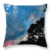 Cumulonimbus Clouds At Sunset Throw Pillow