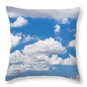 Cumulus Clouds In The Blue Sky Throw Pillow