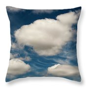 Cumulus Clouds With Nature Patterns Throw Pillow