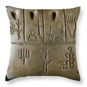 Cuneiform Throw Pillow