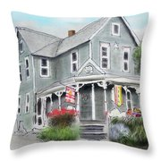 Cup A Joes Coffee Shop Throw Pillow