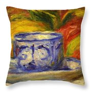 Cup And Fruit Throw Pillow