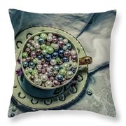 Cup Of Beads Throw Pillow
