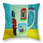 Cup Of London Java Throw Pillow