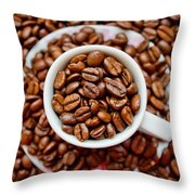 Cup Of Raw Coffee Throw Pillow