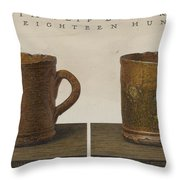 Cup With Slip Decoration Throw Pillow