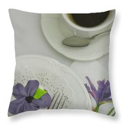 Cupcake And Coffee Throw Pillow