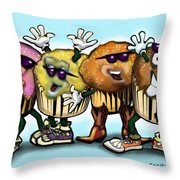 Cupcake Dance Throw Pillow