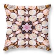 Cupcake Kaleidoscope Throw Pillow