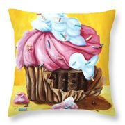 Cupcake Throw Pillow by Maryn Crawford