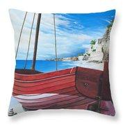 Cupecoy Beach Throw Pillow