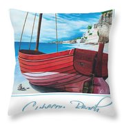Cupecoy Beach Poster Throw Pillow
