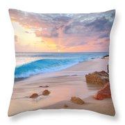 Cupecoy Beach Sunset Saint Maarten Throw Pillow