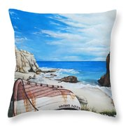 Cupecoy Dream Throw Pillow