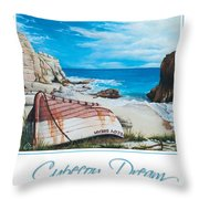 Cupecoy Dream Poster Throw Pillow