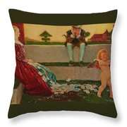 Cupid And Campaspe Throw Pillow