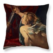 Cupid Throw Pillow