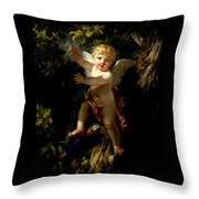 Cupid In A Tree Throw Pillow