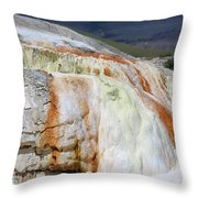 Cupid Spring At Mammoth Hot Springs Throw Pillow