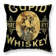 Cupid Whiskey Throw Pillow