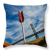 Cupids Bow And Arrow Throw Pillow