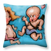 Cupid's Chase Throw Pillow