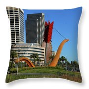 Cupid's Span At The Bay Throw Pillow