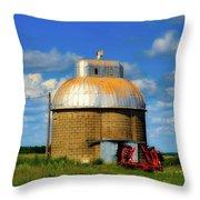 Cupola Grain Silo - Iowa Throw Pillow