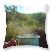 Cuppa Steam Throw Pillow