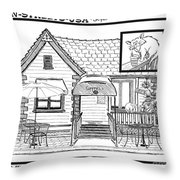 Cuppers Coffee House Throw Pillow