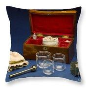 Cupping Set, London, England, C. 1865 Throw Pillow