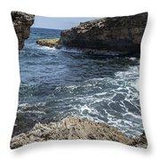 Curacao - Coast At Shete Boka National Park Throw Pillow