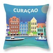 Curacao Horizontal Scene Throw Pillow
