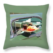 Curb Service Throw Pillow