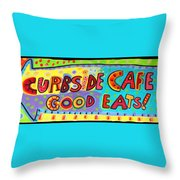 Curbside Cafe Throw Pillow