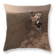 Curiosity Rover Self-portrait Throw Pillow