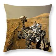 Curiosity Self-portrait At Windjana Drilling Site Throw Pillow