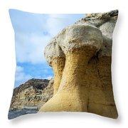 Curious Cliff Throw Pillow