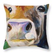 Curious Cow Throw Pillow