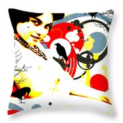 Curious Crow Throw Pillow