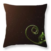 Curl - A Pea Pod Shoot Throw Pillow