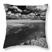 Curl Curl Beach With Dramatic Sky Throw Pillow