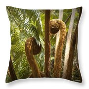 Curled And Delicate Throw Pillow