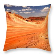 Curling Sandstone Waves Throw Pillow