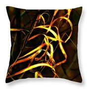 Curly One Throw Pillow