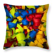 Curly Ribbons  Throw Pillow