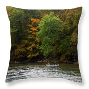 Current River 2 Throw Pillow