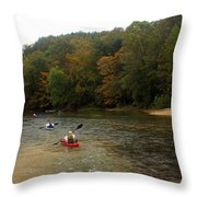 Current River 3 Throw Pillow