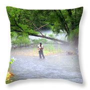 Current River 6 Throw Pillow