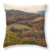 Current River Valley Near Acers Ferry Mo Dsc09419 Throw Pillow